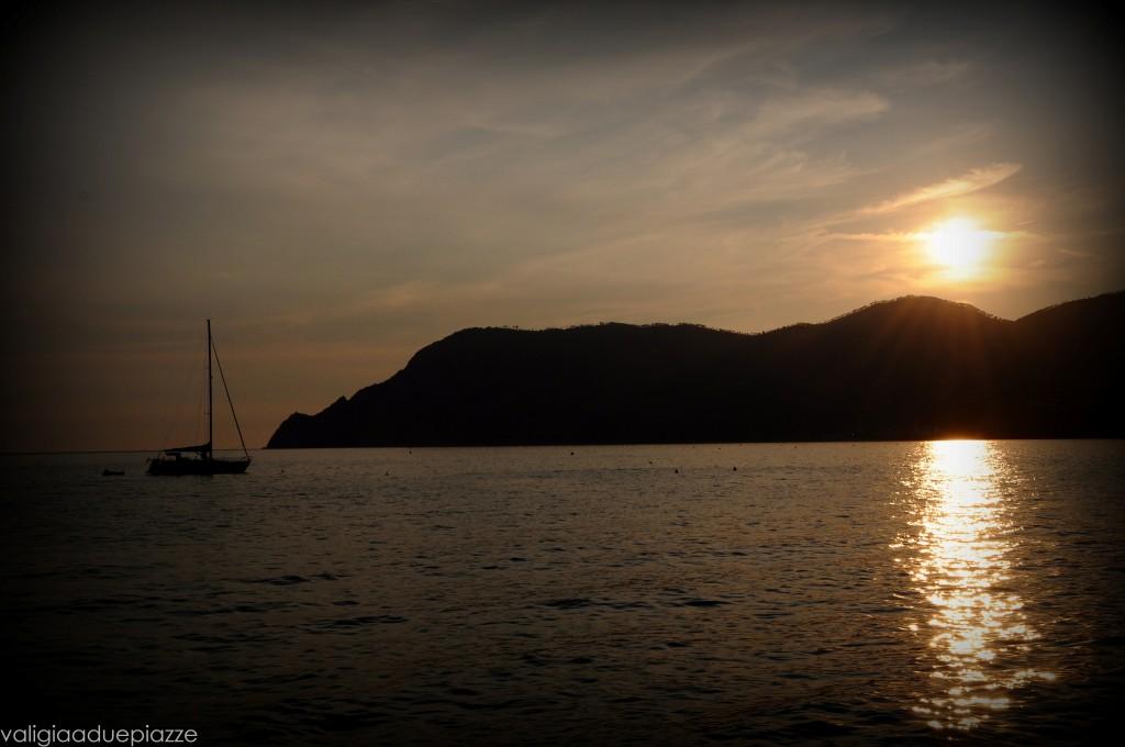 Il tramonto da Vernazza