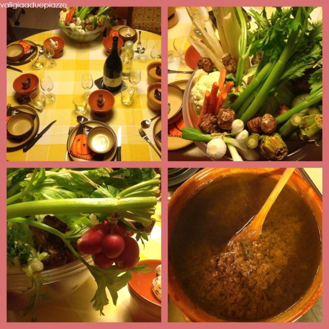 La bagna caoda preparata da mia mamma per dei miei amici di Milano