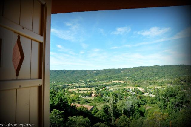 La vista dalla nostra camera d'albergo