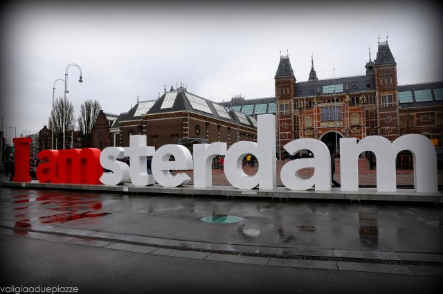 I Amsterdam scritta