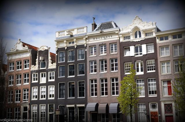 Case lungo i canali Amsterdam