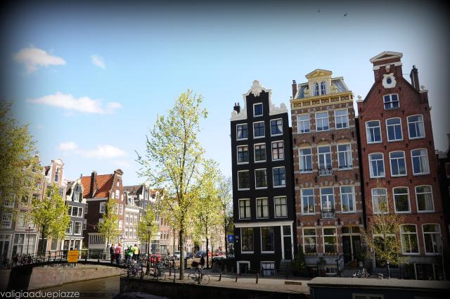veduta case canali Amsterdam