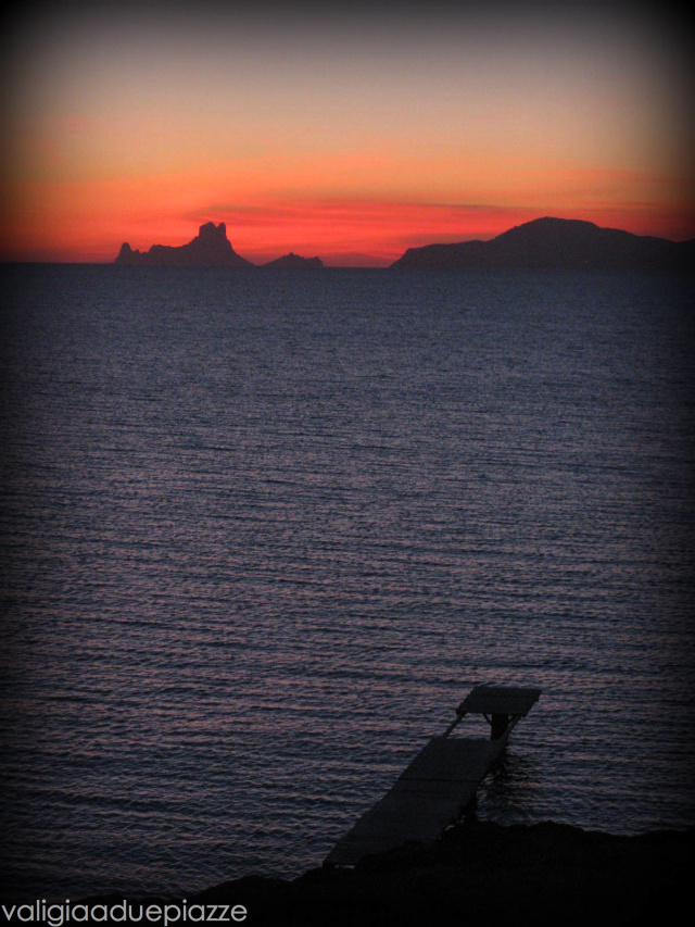 Il tramonto su Ibiza dall'Area Protetta di Ses Salines