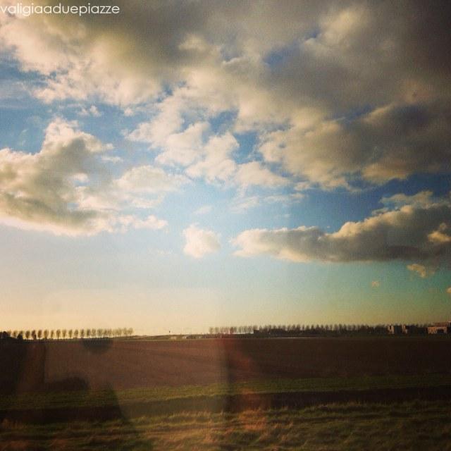 in treno verso amsterdam