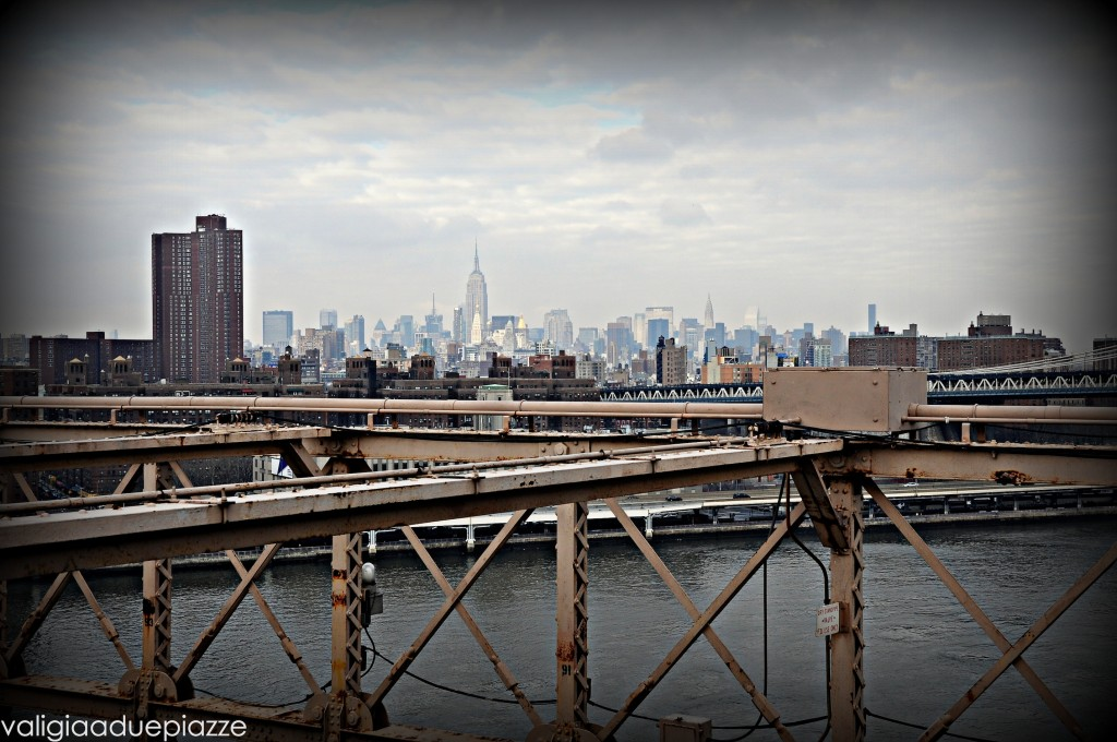 Skyline dal ponte di Brooklyn