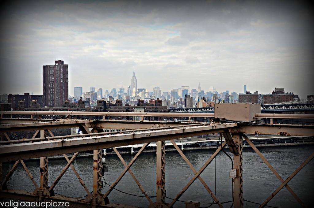 Skyline dal ponte di Brooklyn