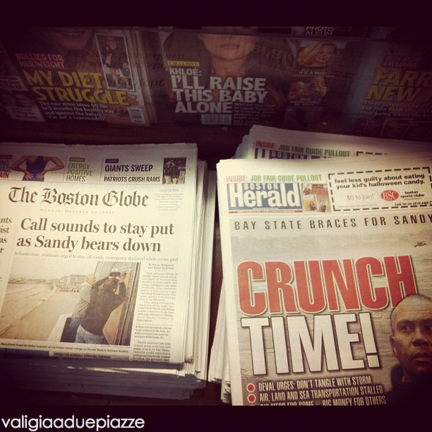 Newspaper sandy