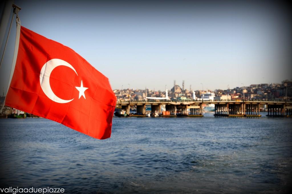 Bandiera turca Corno d'Oro Istanbul