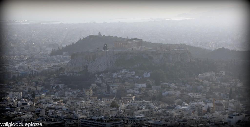 Acropoli e Partenone dal Licabetto