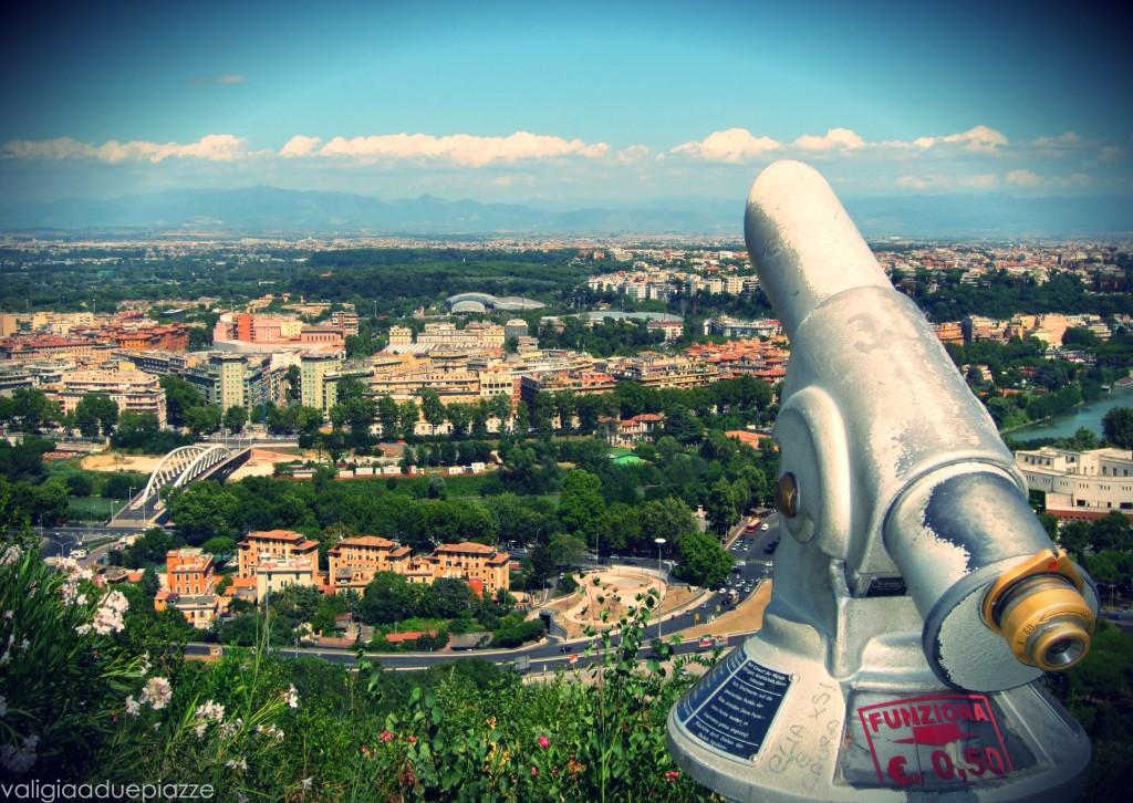 panorama Roma dallo Zodiaco Monte Mario