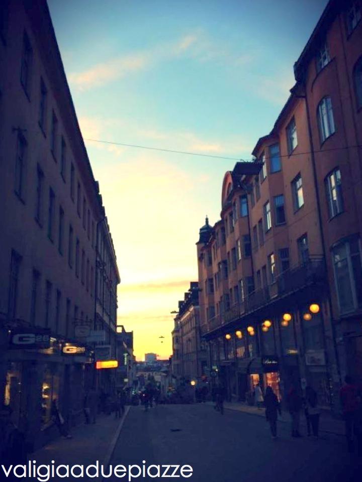 Mezzanotte di mezza estate in Götgatan