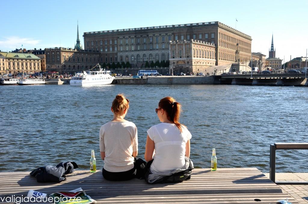 Vista su Gamla Stan e il Palazzo Reale