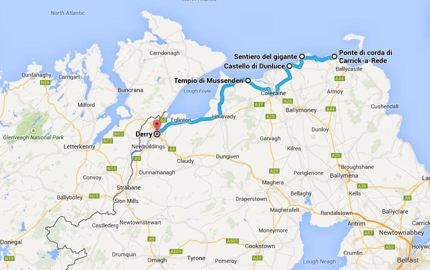 Irlanda del Nord percorso #4idee