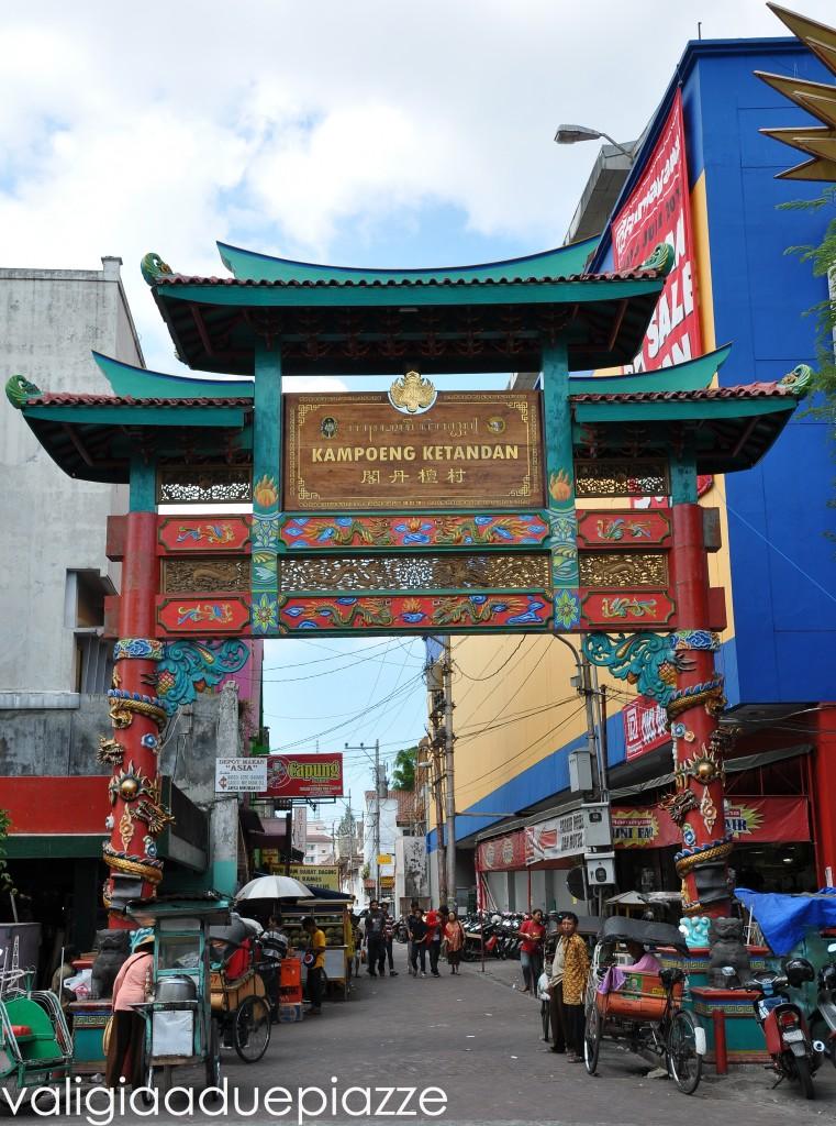 L'ingresso di Malioboro Street