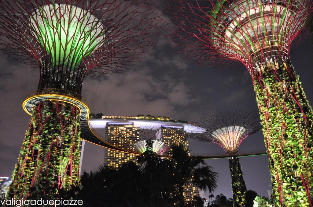 giardini alberi luminosi singapore
