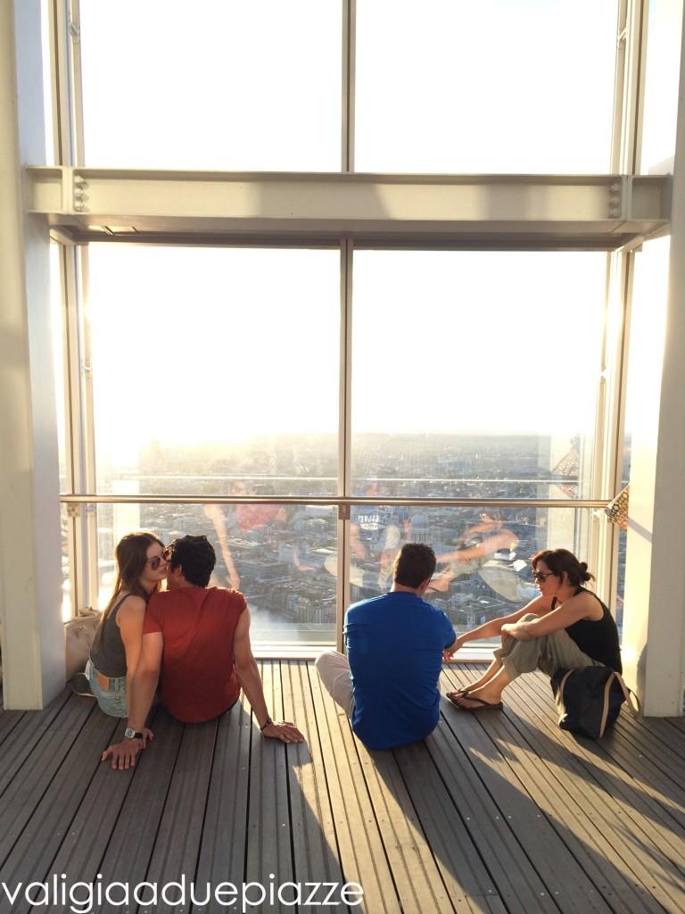 Le grandi vetrate dello Shard Londra