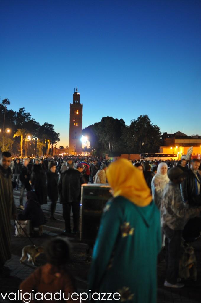 tramonto su piazza djemaa el fan marrakech
