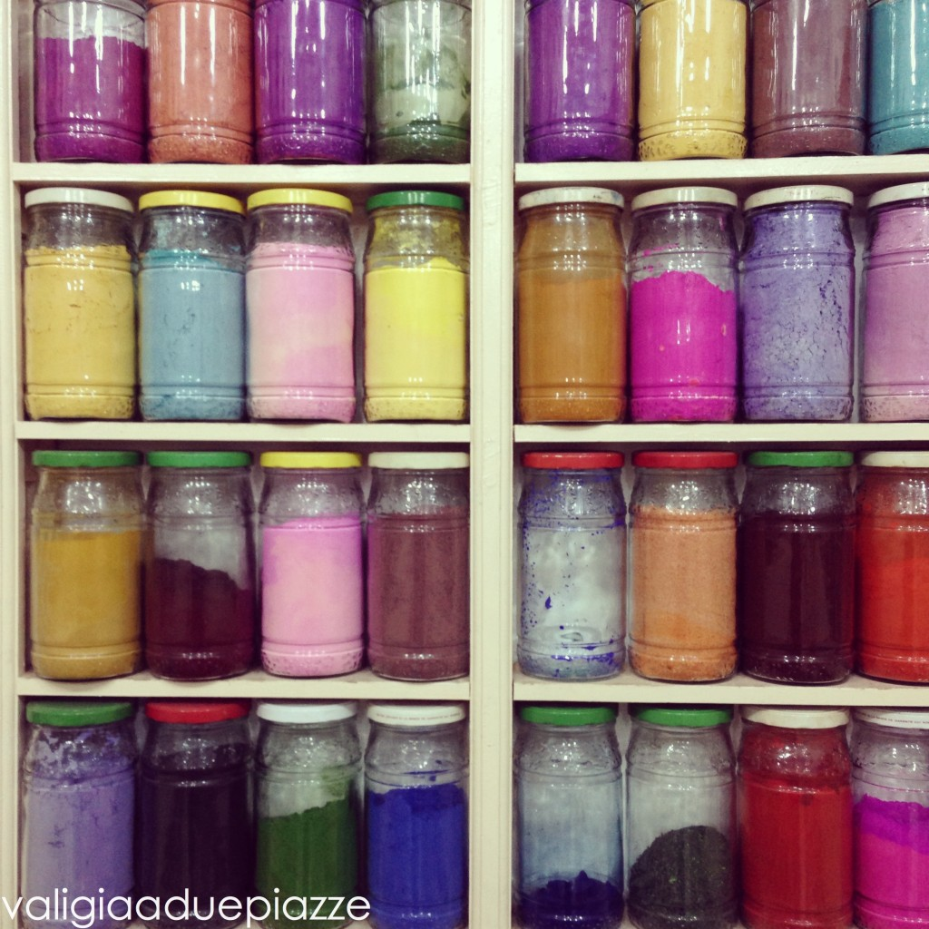 colori per le pelli medina marrakech