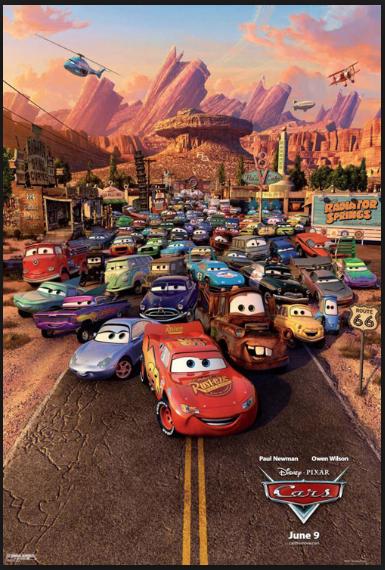 cars motori ruggenti locandina