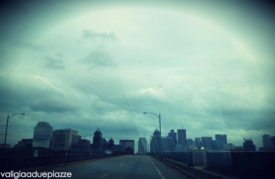 verso il centro di boston