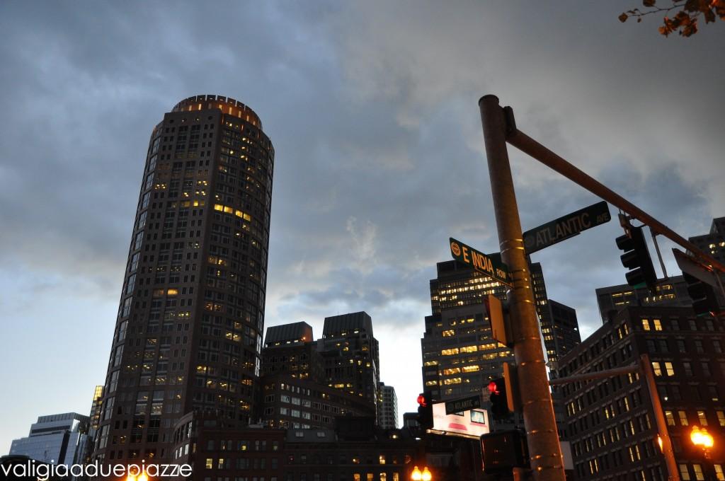 financial district boston sunset