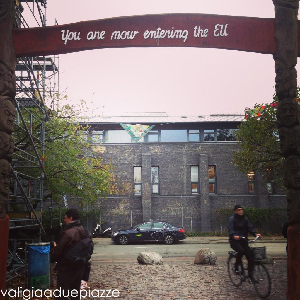 Uscendo da Christiania si torna nell'Unione Europea