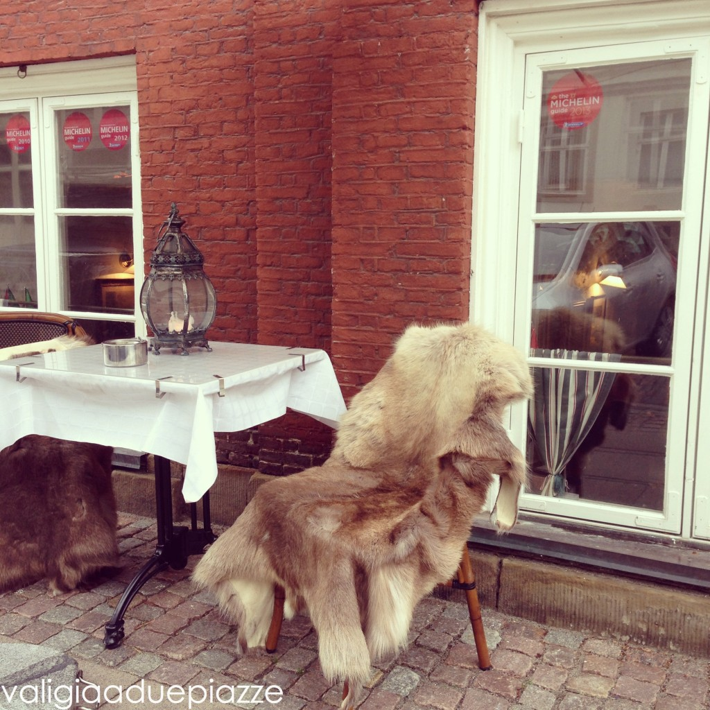 L'ingresso dell'Amalie Restaurant di Copenhagen