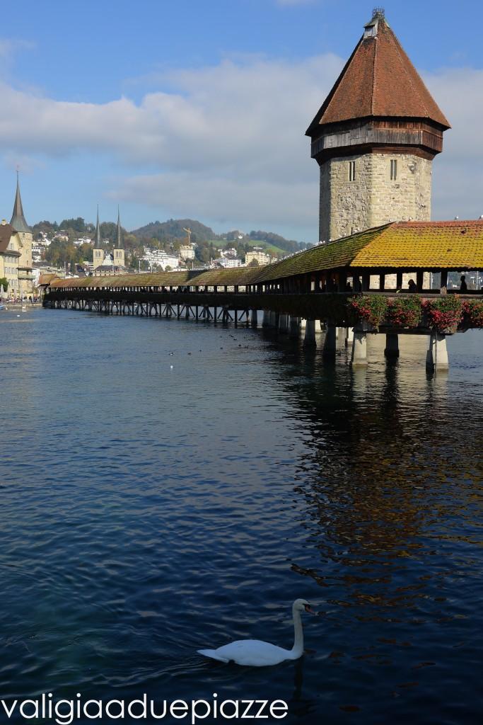 Kapellbrücke e torre sull'acqua