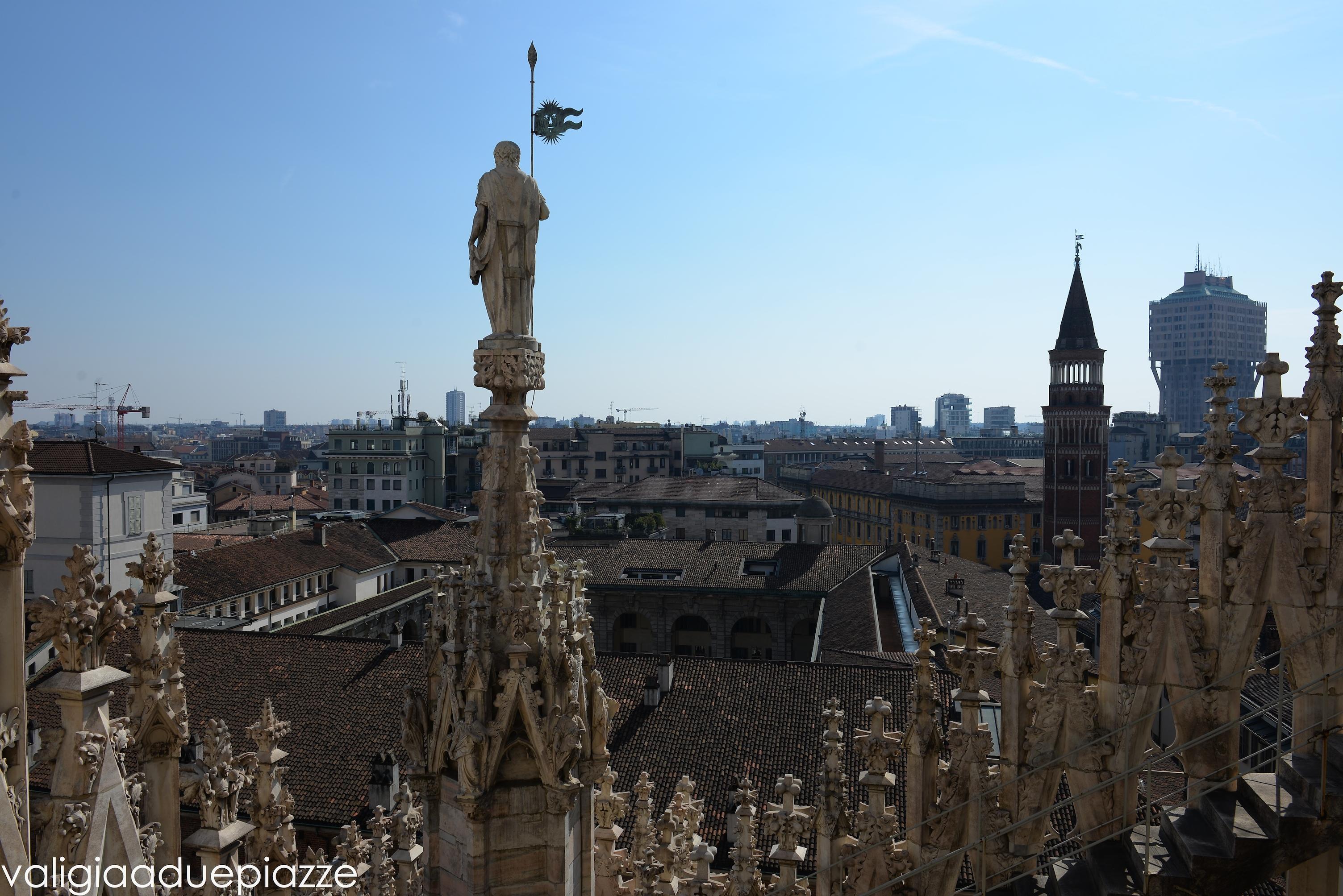 Com\'è Milano dal tetto del Duomo