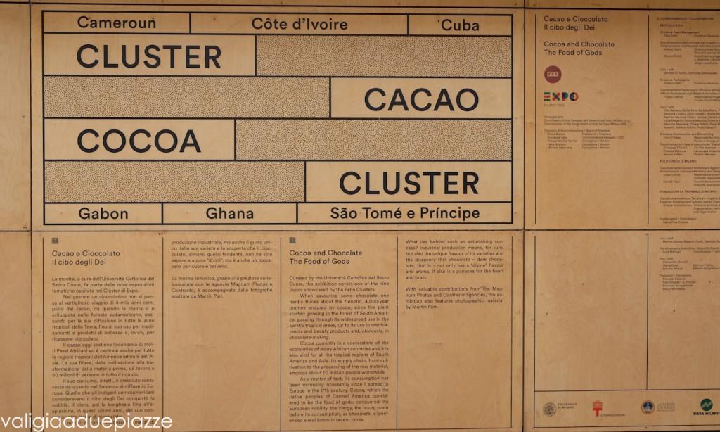 Il cluster del cacao e del cioccolato a Expo Milano 2015