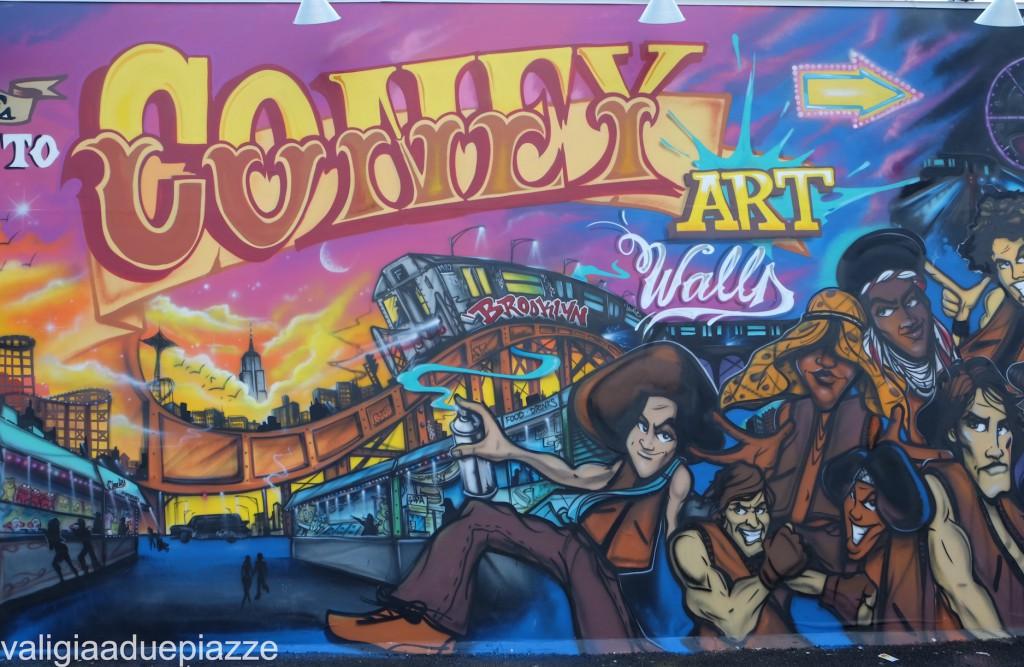 streetart coney island luna park