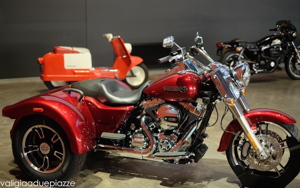 Un modello 2016 della trike dell'Harley Davidson, la moto con tre ruote.