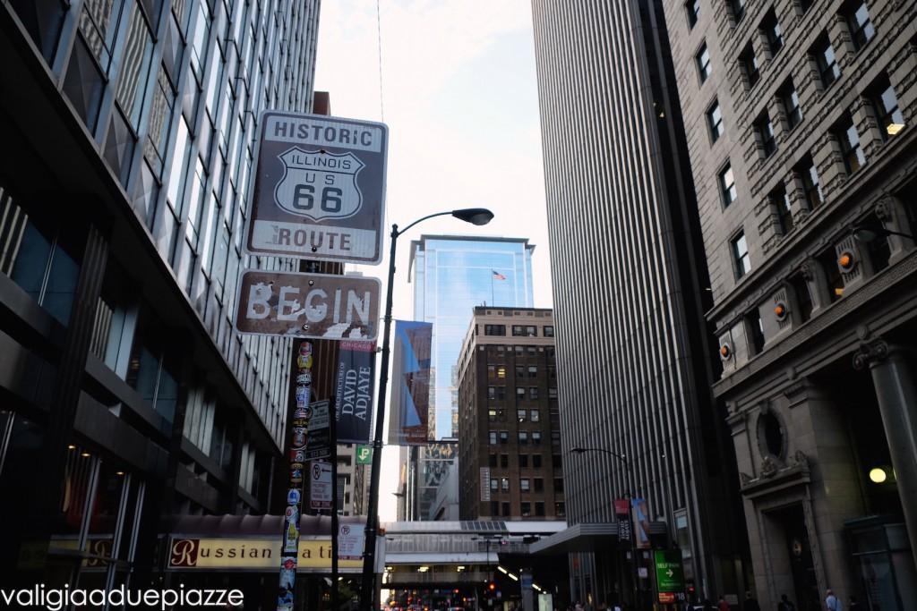 begin historic route 66 chicago illinois