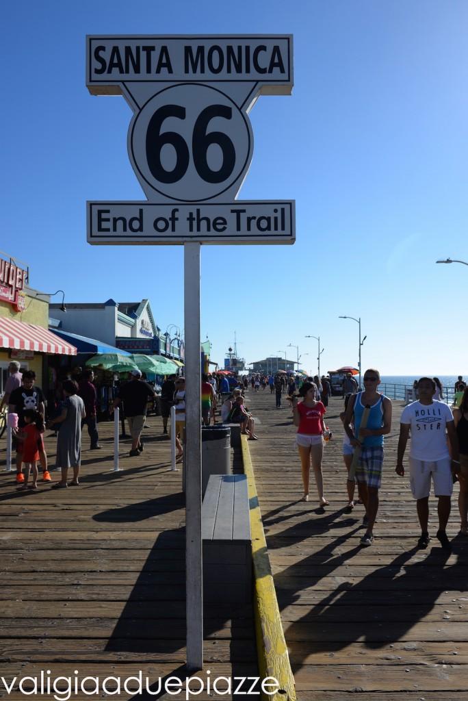 La fine della Route 66, sul pier di Santa Monica, in California.