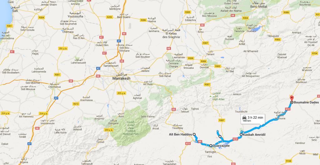 cartina marocco deserto