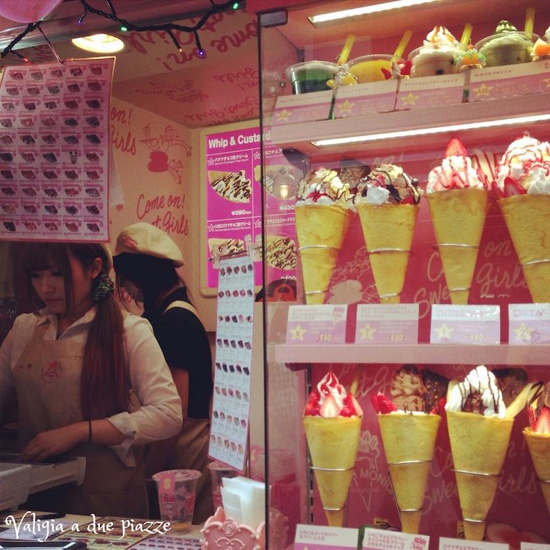 crepes gelato creamy mami tokyo takeshita street