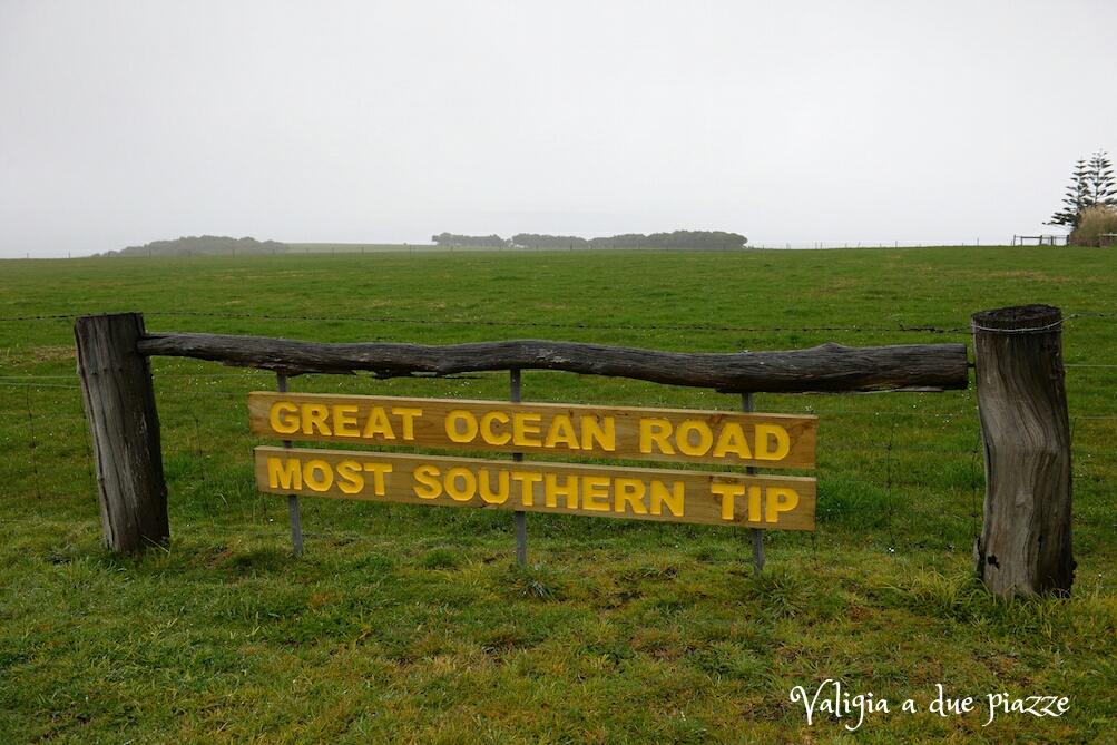 great ocean road punto più a sud australia