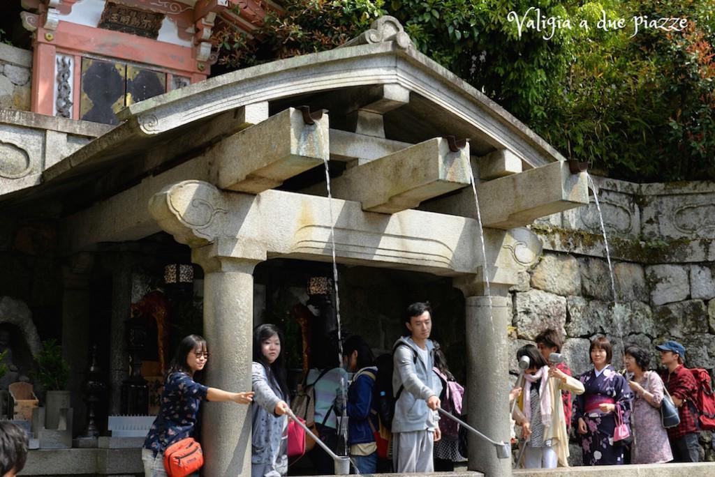 Fonte sacra Otowa-no-taki Kiyomizu-dera Kyoto