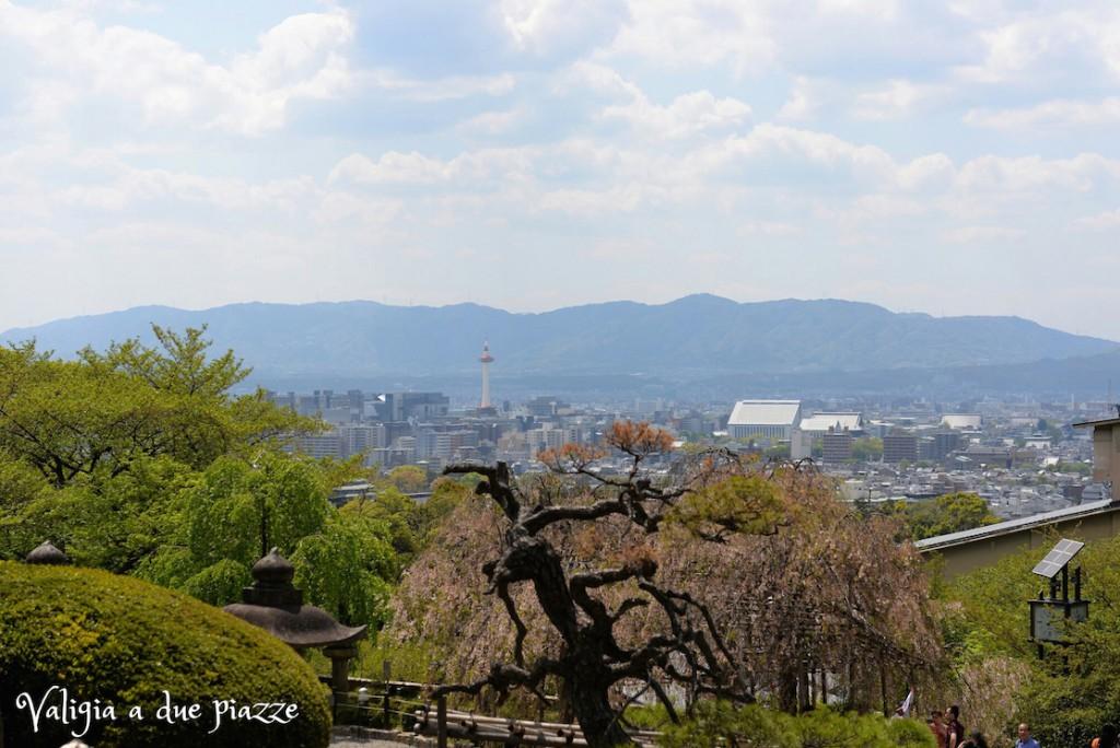 panorama Kyoto dal tempio Kiyomizu-dera