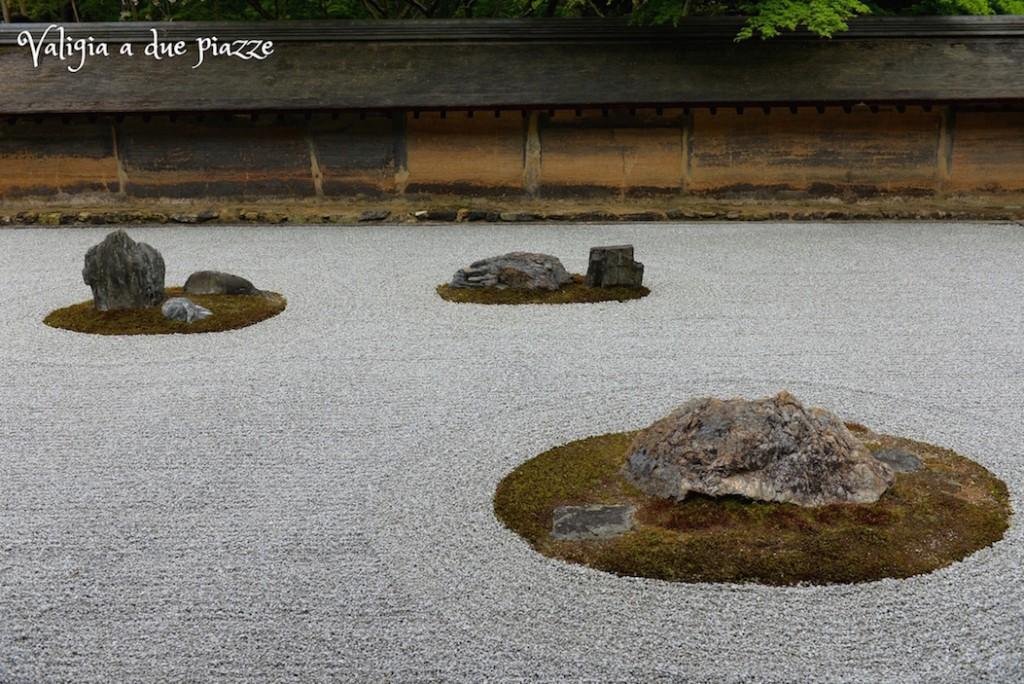 rocce giardino zen Kyoto Ryoan-ji