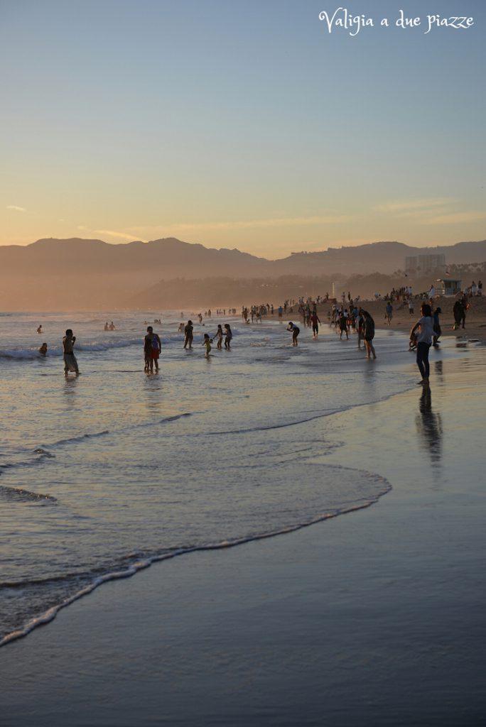 Spiaggia Santa Monica oceano