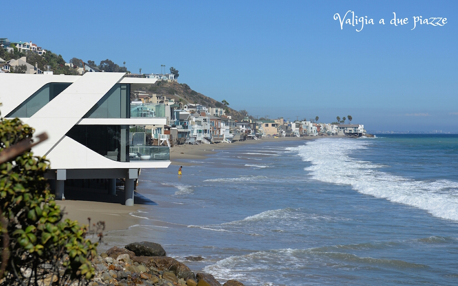 Malibu beach and houses Beautiful