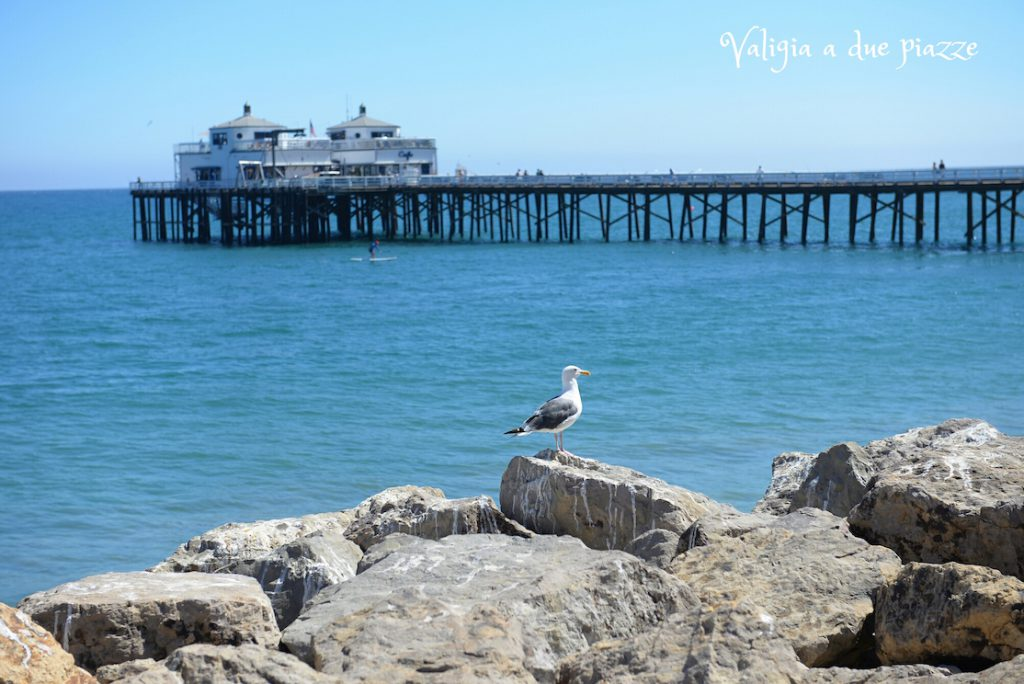 Malibu beach and pier