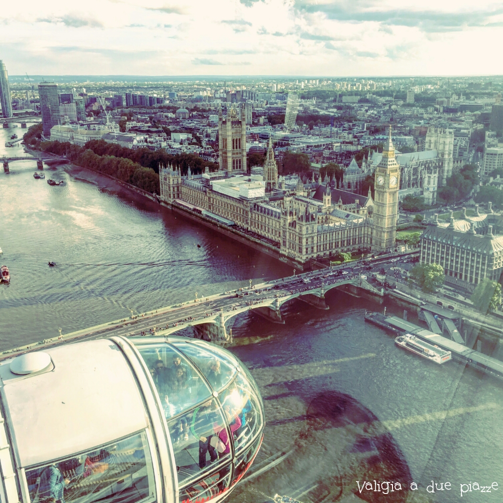 Westminster da London Eye Londra