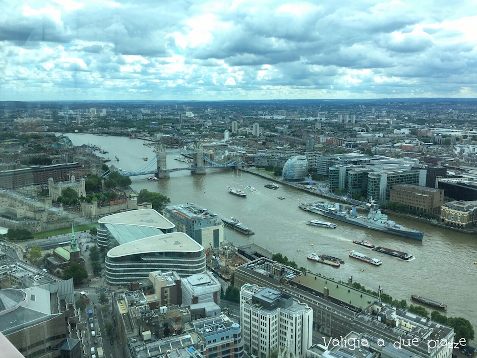Tower Bridge from Sky Garden London