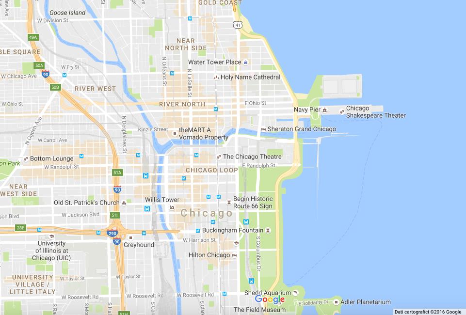 Mappa Chicago - viaggio tre giorni