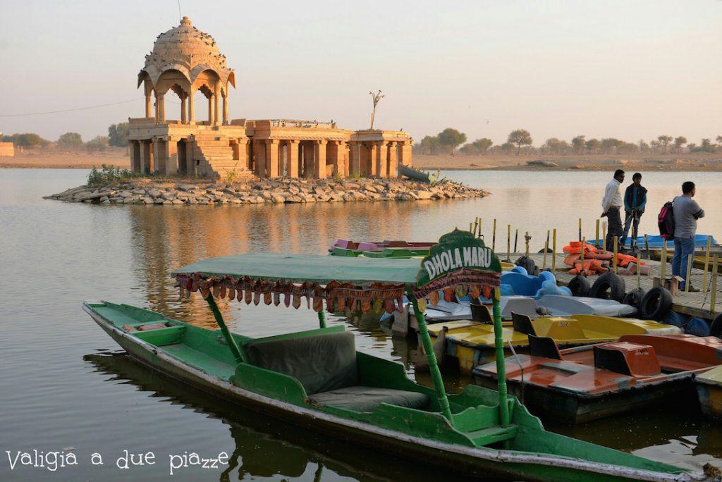 Jaisalmer india gadisar lake