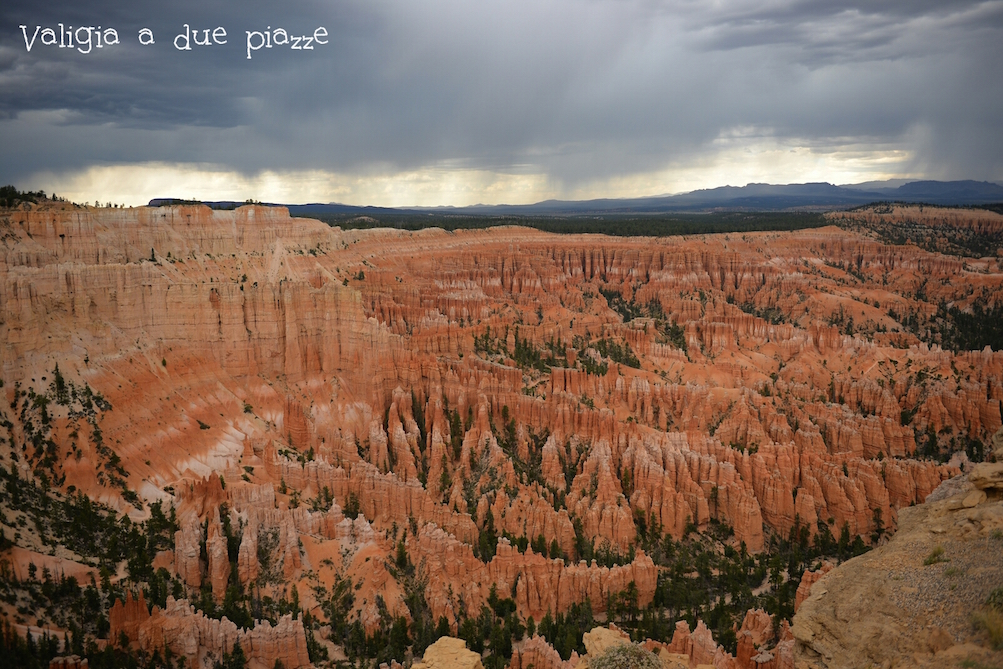 tempesta sul bryce canyon sunset point