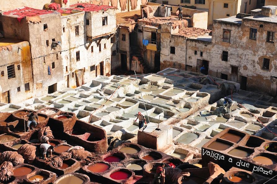 conceria tessuti Fes Marocco