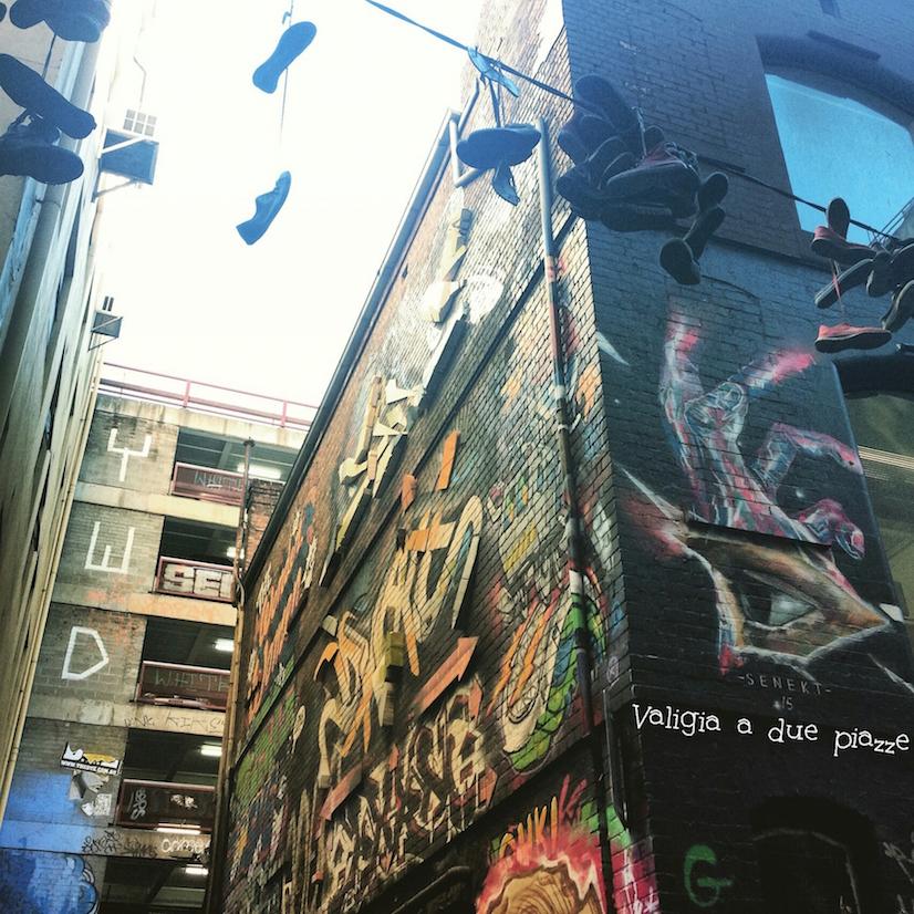 Hosier Lane shoefiti Melbourne
